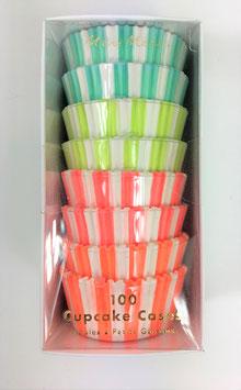 100 caissettes pastels et fluorescents Meri Meri
