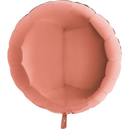 Ballon Métallique Rond Rose Gold Brillant
