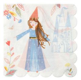 16 Grandes Serviettes Princesse Magique