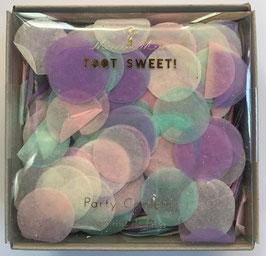 Pack de confettis pastels vert menthe, rose parme diamètre 2cms Meri Meri