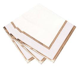 16 grandes serviettes motifs baroques rose gold