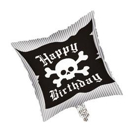 Ballon métallique drapeau tête de mort Pirate