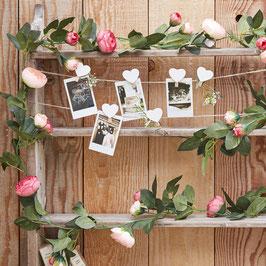Guirlande Fleurs Artificielles Roses et Feuillages