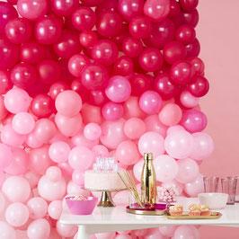 Kit Mur 210 Ballons Roses