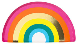 12 Assiettes Arc en Ciel Multicolore