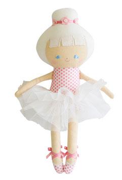 Poupée Baby ballerina pois roses Alimrose