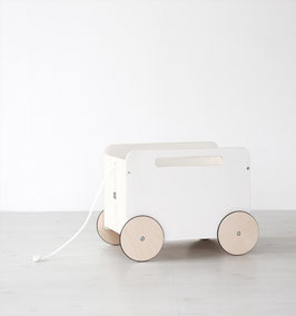 Coffre à jouet chariot en bois Ooh Noo