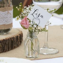 4 petits vases marque places