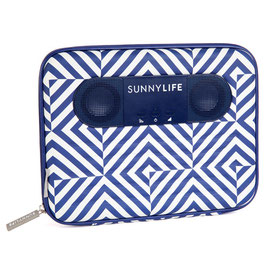 Tablet sound player rayée bleu et blanc Sunnylife
