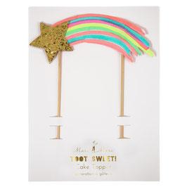 Décoration gateau anniversaire arc en ciel Meri Meri