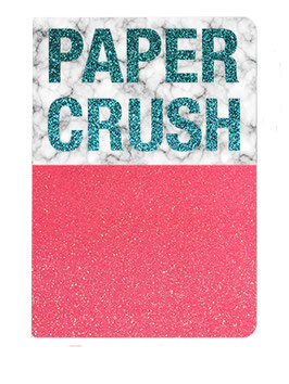 "Carnet pailleté format 12X17.5cms message ""Paper Crush"""