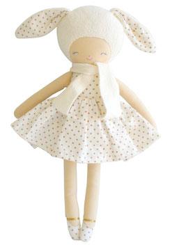 Grande poupée Lapin Belle pois dorés Alimrose