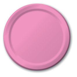 24 grandes assiettes en carton rose rose bonbon