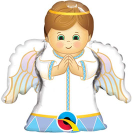 "Ballon métallique ""Angel boy"" hauteur 35cms"