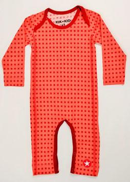 pyjama ml fond corail imprimé croix kik kid