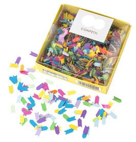 Confettis en Papier Multicolores et Dorés