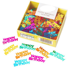 Confettis de Table Happy Birthday Multicolores