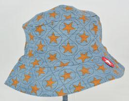 chapeau fond bleu foncé étoiles marron Kik kid