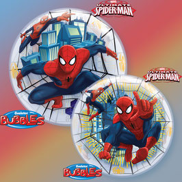Ballon bubble en plastique transparent imprimé Spiderman 56cms diamètre