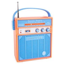 Radio rétro bleue et orange Sunnylife