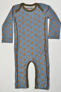 pyjama ML fond bleu foncé étoiles marrons marque Kik kid