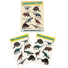 2 planches de tatouages dinosaures