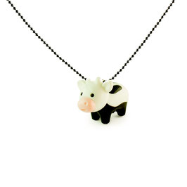 Collier Vache Black and white Pop Cutie