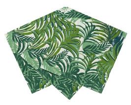 20 petites serviettes tropicales