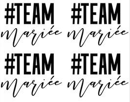 4 Tatouages EVJF Team Mariée