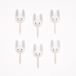 6 Bougies lapins my little day