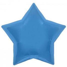 Ballon métallique étoile bleue brillante
