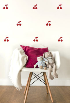 Stickers muraux cerises rouges Pom le bonhomme