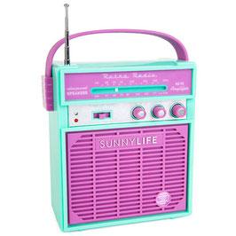 Radio Rétro turquoise et parme Sunnylife