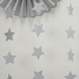 Guirlande étoiles argent