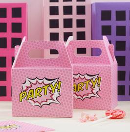 5 Boites pour cadeaux invités anniversaire super héros fille