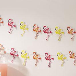 Guirlande pour decoration fête flamant rose