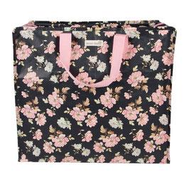 "Grand sac de rangement "" roses vintage """