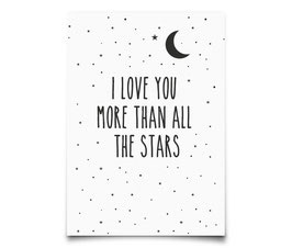 "Carte postale ""I love you more than the stars"" Eef Lillemor"