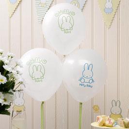 8 Ballons imprimés Miffy