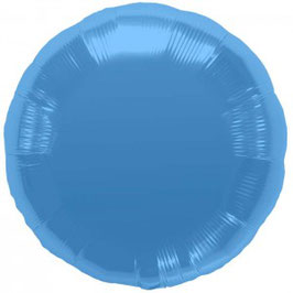 Ballon métallique rond bleu brillant
