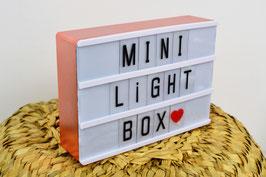 Mini light box format A6 magnétique cadre rose gold