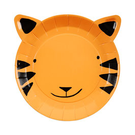 12 petites assiettes tigres thème Jungle meri meri