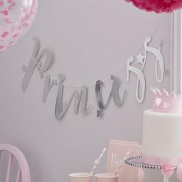 """Guirlande décorative """"Princess"""" argent"""
