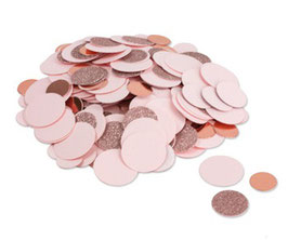 Confettis de Table Rose Pastel Rose Gold