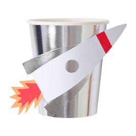 8 gobelets fusée meri meri