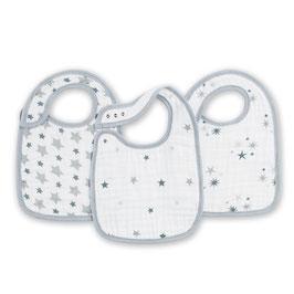Pack de 3 bavoirs Aden & Anais étoiles grises Twinkle