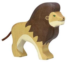 Lion en bois Holztiger