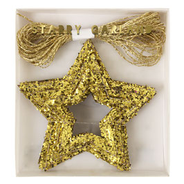 Guirlande 42 étoiles dorées meri meri