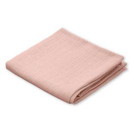 Lange rose blush en coton bio 70cmsX70cms
