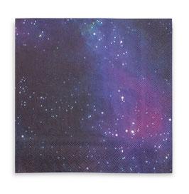 16 grandes serviettes imprimé Galaxie